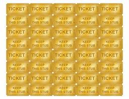 golden tickets with numbers printables pinterest golden