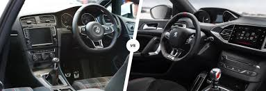vw golf gti vs peugeot 308 gti hatch battle carwow