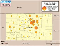 map of colorado by population colorado population distribution map by maps from maps