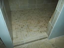 plain mosaic floor tile shower gray and ideas