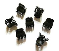 claw hair 20 pcs black mini small hair snap claw clip size 10