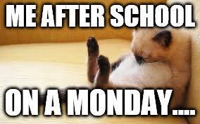 Monday School Meme - monday meme imgflip