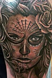 grey ink santa muerte tattoo tattoos book