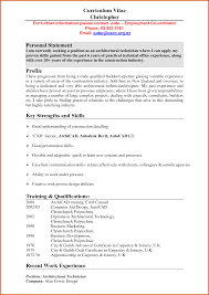 resume personal statement resume name