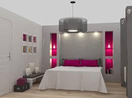 une chambre moderne en camaieu de gris et fushia trend fashion