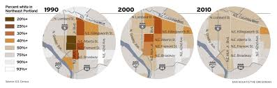City Of Portland Maps by In Portland U0027s Heart 2010 Census Shows Diversity Dwindling