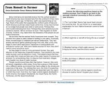from nomad to farmer 5th grade reading reading comprehension