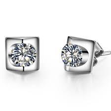 diamond earrings design 0 3carat each antique design synthetic diamonds stud earrings push