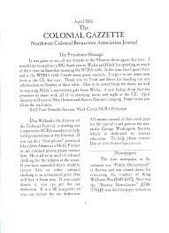 our newsletter the northwest colonial reenactors association