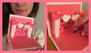 How To Make A Christmas Card Online - how to make a cute homemade pop up valentine u0027s card very easy