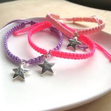 cord braid bracelet images Dainty star braided personalised nylon cord bracelet uk JPG