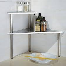 Corner Storage Bathroom Cook N Home 2 Tier Stainless Steel Corner Storage Shelf Organizer