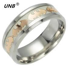 Superman Wedding Ring by Unb Retro Batman Or Superman Luminous Men U0027s Ring Stainless Steel