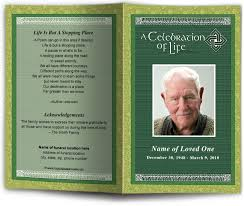 funeral programs template celtic themed funeral program template design memorial