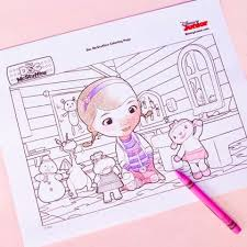 doc mcstuffins coloring disney family