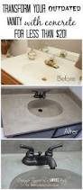 diy concrete vanity with integral sink sink countertop