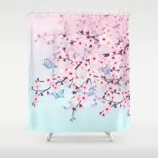 Cherry Blossom Curtains Shower Curtains By Baydur Mandalaart Society6