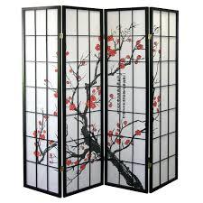 room dividers screen 4 panel divider japanese oriental style shoji