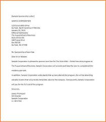 5 sample of sponsor letter adjustment letter