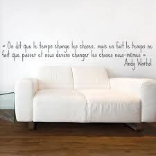 stickers chambre adulte sticker andy warhol le temps stickers citation texte opensticker