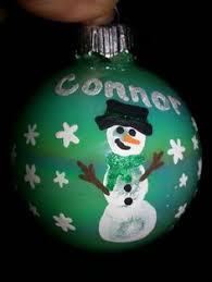 learn how to make a salt dough fingerprint snowman ornament with