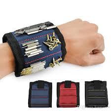 magnetic bracelet tool images Magnetic wristband pocket tool belt pouch bag screws holder jpg