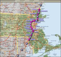 interstate 95 cities in massachusetts map boston mappery