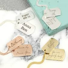 Personalized Dog Tags For Couples Personalised Necklaces Next Day Delivery Available Lisa Angel Uk