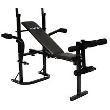 multi purpose weight training bench in black or red buydirect4u