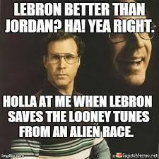 Meme Jordan - lebron better than jordan meme