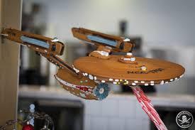 gingerbread uss enterprise sends your sugar cravings to strange