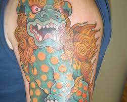 25 wonderful foo dog tattoo designs slodive