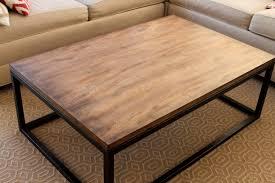 West Elm Etched Granite Coffee Table Metal Frame Wood Top Coffee Table Coffee Tables