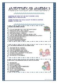 Adjectives And Adverbs Worksheet 85 Free Esl Adjective Adverb Worksheets