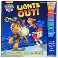 paw patrol lights flashlight adventure sound book bms