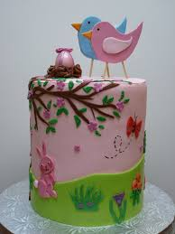 enchanted icing bird baby shower