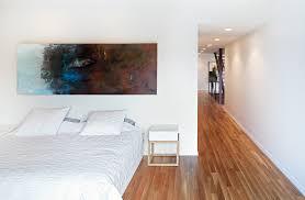 Rift Sawn White Oak Flooring Elegant Vera Wang Bedding In Bedroom Modern With Concealed