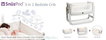 Cribs That Attach To Side Of Bed New Snüzpod Bedside Baby Crib Cherish Me Dublin Official