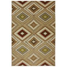 shop mohawk home veleste brown rectangular indoor woven area rug