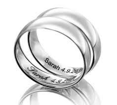 engraved wedding rings the wedding band shop laser engraving