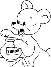 baby honey bear coloring pages coloring sky