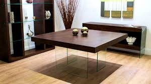 Square Glass Dining Tables Furniture Pretty Square Glass Dining Table Sets Cool Room And