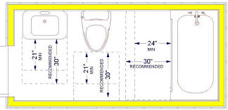 size of toilet standard bathroom rules and guidelines with measurements