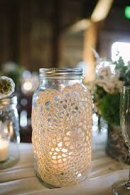 lace on jar shabby chic vintage rustic wedding decor decor