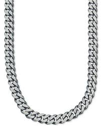 mens jewelry necklace images Esquire men 39 s jewelry wide chain necklace 6 3 4mm in sterling tif