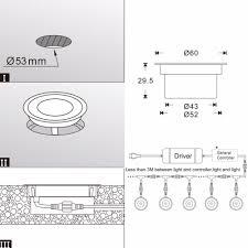silver kitchen bathroom waterproof decorative floor deck lamp led