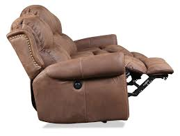 Electric Recliner Armchair Legend Power Reclining Sofa Brown Levin Furniture