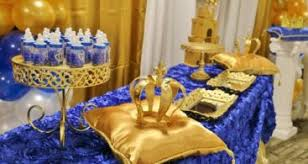 Royal Blue And Gold Baby Shower Decorations