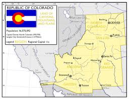 Map Of Southwest Colorado by The Republic Of Colorado With A Point Of Divergence During The