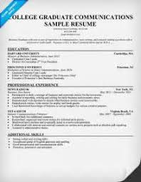 Sample Resume For College Graduate by Image Result For Resume Skills For Recent College Graduate Sample